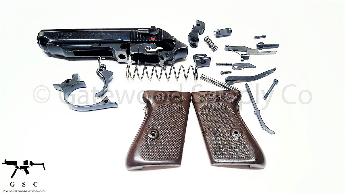 used factory west german walther ppk 380 parts kit w barrel some