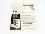 Original Vintage HK Double Action Pistol Advertisement