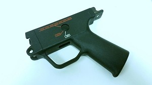 HK MP5-40 MP5-10 Ambi Trigger Housing - Navy - (0,1,F) - Clipped and Pinned