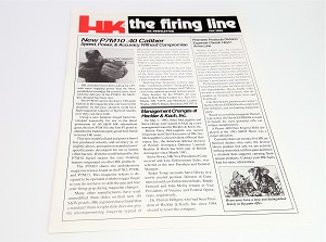 Original Vintage HK Newsletter - The Firing Line - 1992