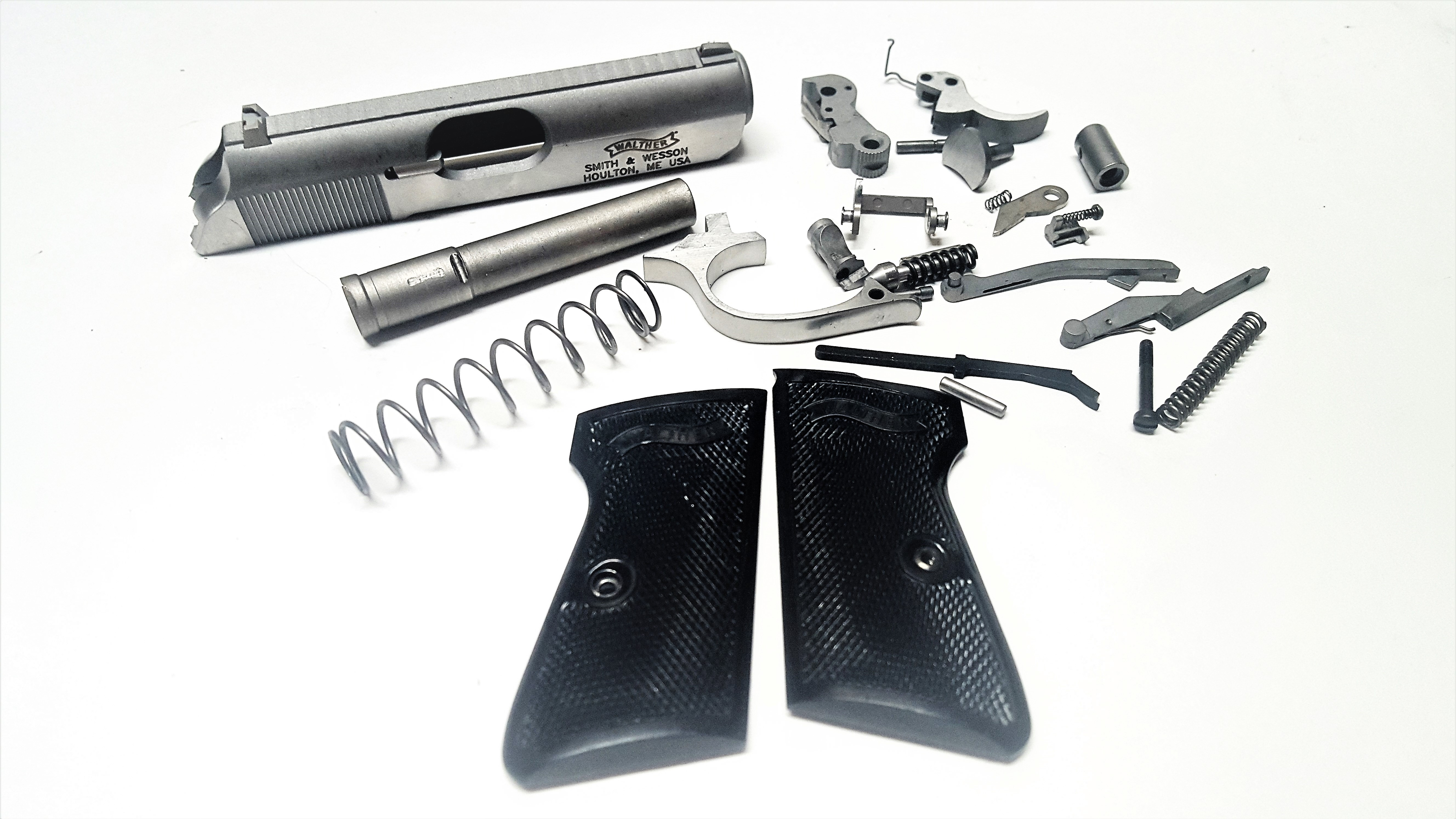 used factory walther ppk complete parts kit stainless steel 380
