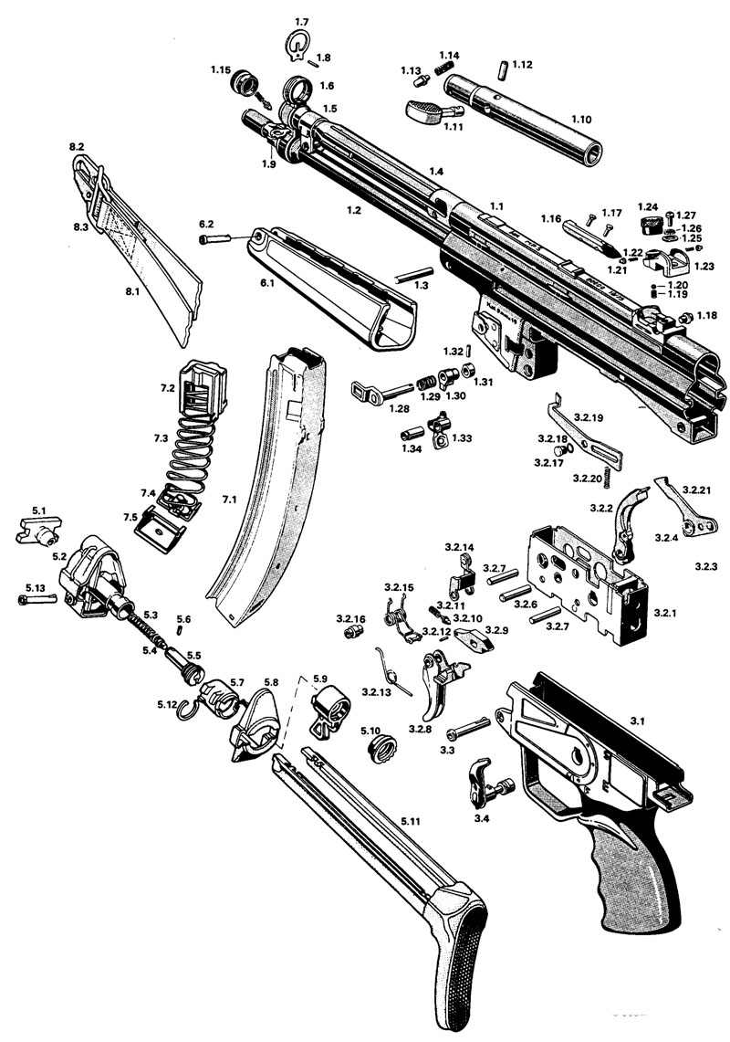 HK MP5 Diagram