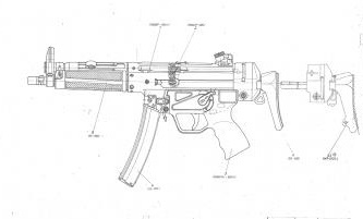 HK MP5-40 Diagram